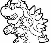 Coloring pages Bowser