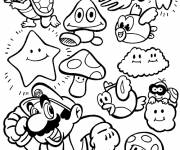 Coloring pages Magic Mario
