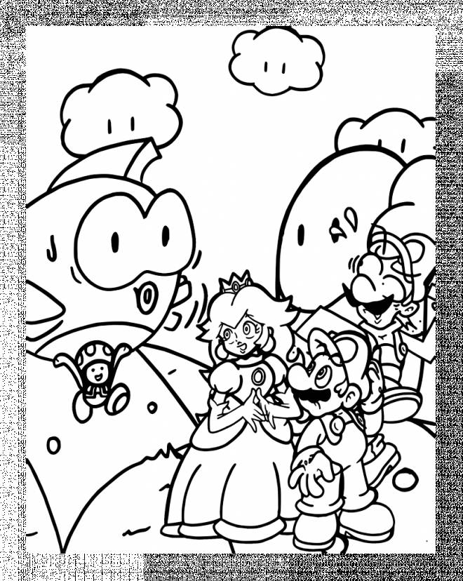 Free printable Wario coloring pages