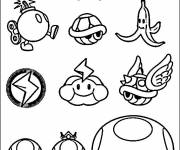 Coloring pages Wario characters