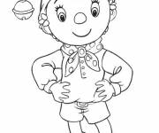 Coloring pages Drawing of Noddy