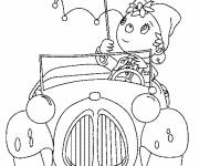 Coloring pages Noddy and his car