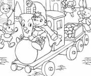 Coloring pages Noddy takes the train
