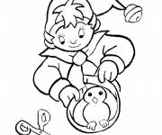 Coloring pages Noddy tinkering