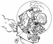 Coloring pages Zinzin come from space