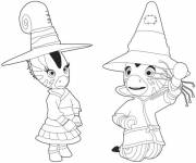 Coloring pages Zou the little witch