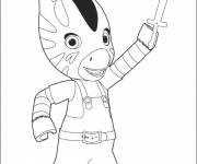 Coloring pages Zou zebra free to print