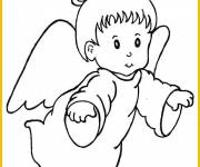 Coloring pages A little angel