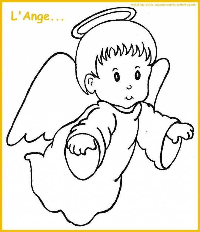 Free coloring and drawings A little angel Coloring page