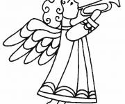 Coloring pages An Angel announces Christmas