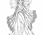 Coloring pages Angel princesses