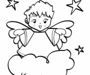 Coloring pages Beautiful angels for kids