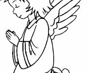 Coloring pages Christmas angel