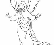 Coloring pages Guardian angel