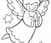 Coloring pages Simple drawing angel