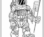 Coloring pages American astronaut