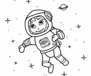 Coloring pages Astronaut girl
