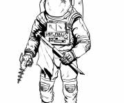 Coloring pages Astronaut illustrations