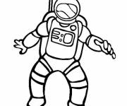Coloring pages Astronaut in space