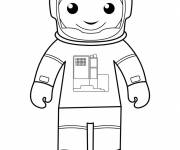 Coloring pages Easy astronaut