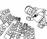 Coloring pages Lego astronaut