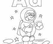 Coloring pages Planet astronaut