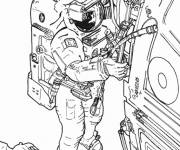 Coloring pages Real drawing astronaut