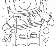 Coloring pages Simple astronaut