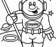 Coloring pages Smiling astronaut