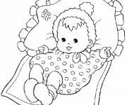 Free coloring and drawings A baby Coloring page