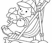 Coloring pages Baby and his toys