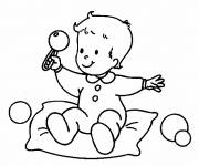 Coloring pages Baby and toy online