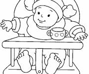 Free coloring and drawings Baby girl Coloring page