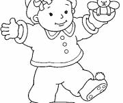 Coloring pages Baby in color