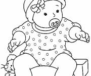 Coloring pages Baby maternal drawing