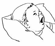 Free coloring and drawings Baby wants to sleep Coloring page