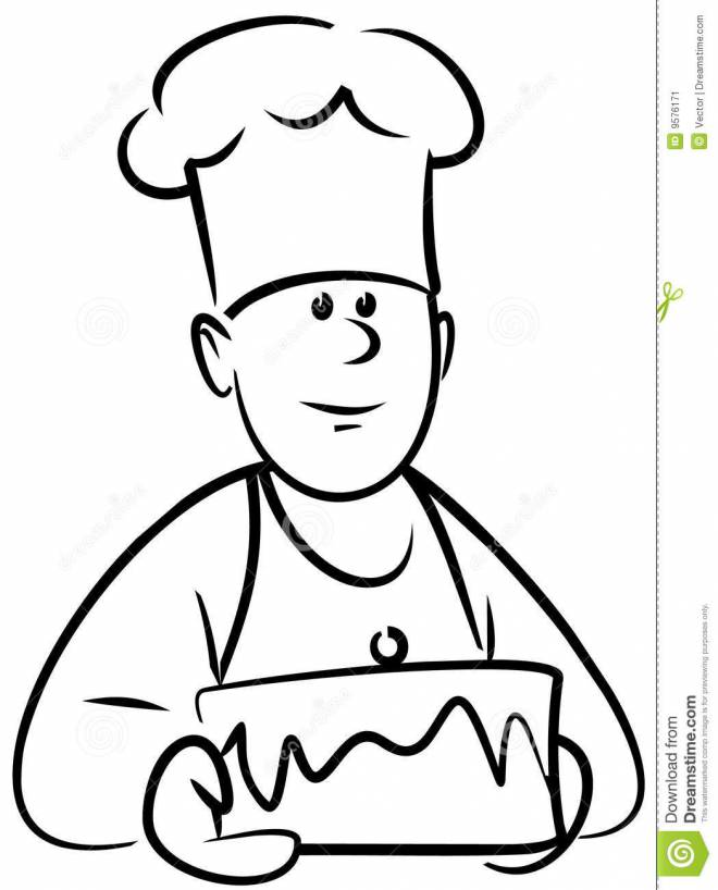 Free coloring and drawings A delicious cake Coloring page
