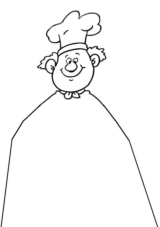 Free coloring and drawings A humorous pastry chef Coloring page