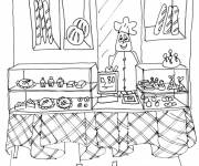 Coloring pages At the bakery