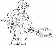Coloring pages baker's bread