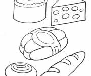 Coloring pages Bakery food