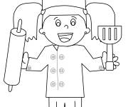 Coloring pages Daughter of the Baker