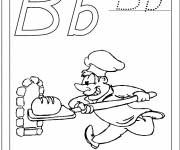 Coloring pages The baker bakes bread