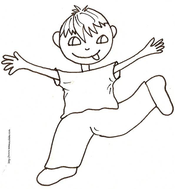 Free coloring and drawings A boy playing Coloring page