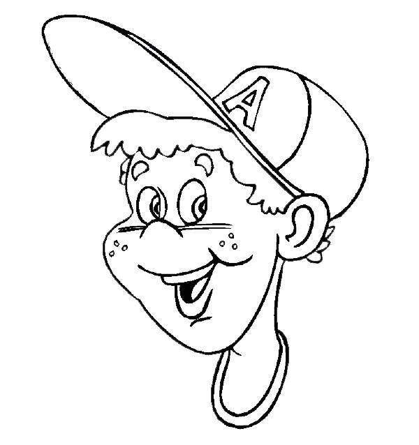 Free coloring and drawings A boy wears a hat Coloring page
