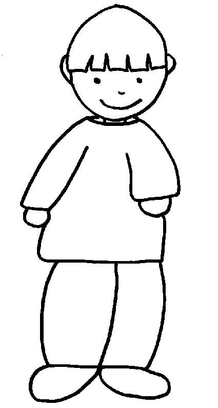 Free coloring and drawings A child smiles Coloring page