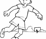 Free coloring and drawings A child with his ball Coloring page