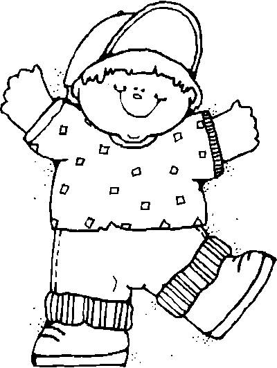 Free coloring and drawings A fat boy Coloring page