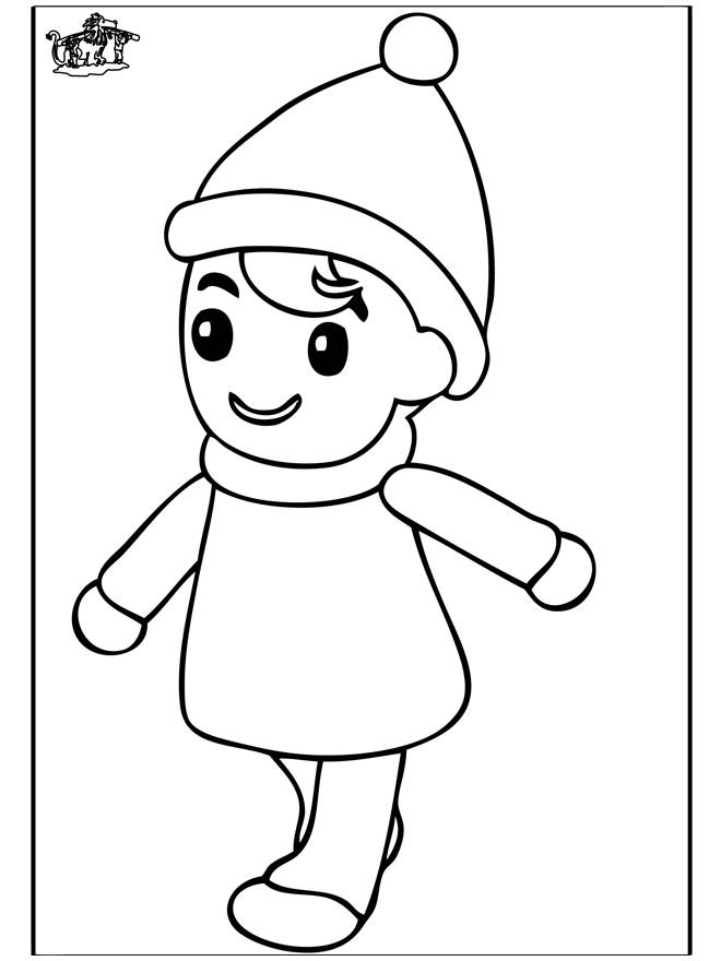 Free coloring and drawings A girl wearing a hat Coloring page
