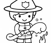 Free coloring and drawings The fire boy Coloring page